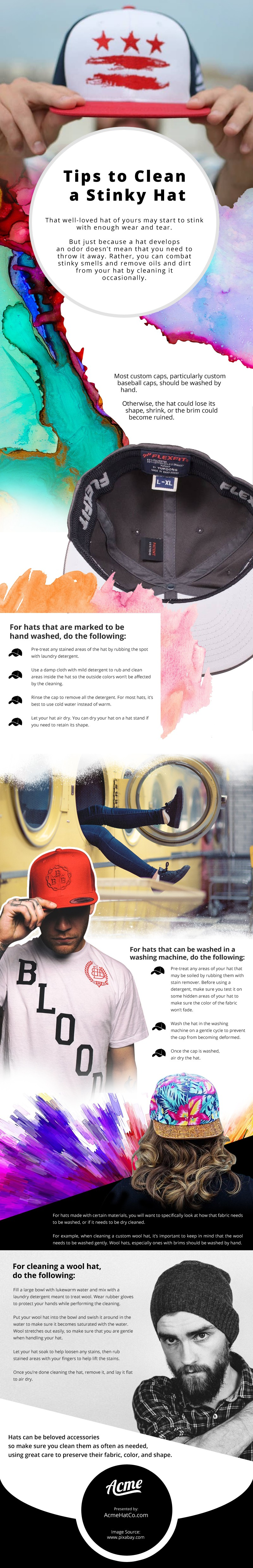 Tips to Clean a Stinky Hat [infographic]