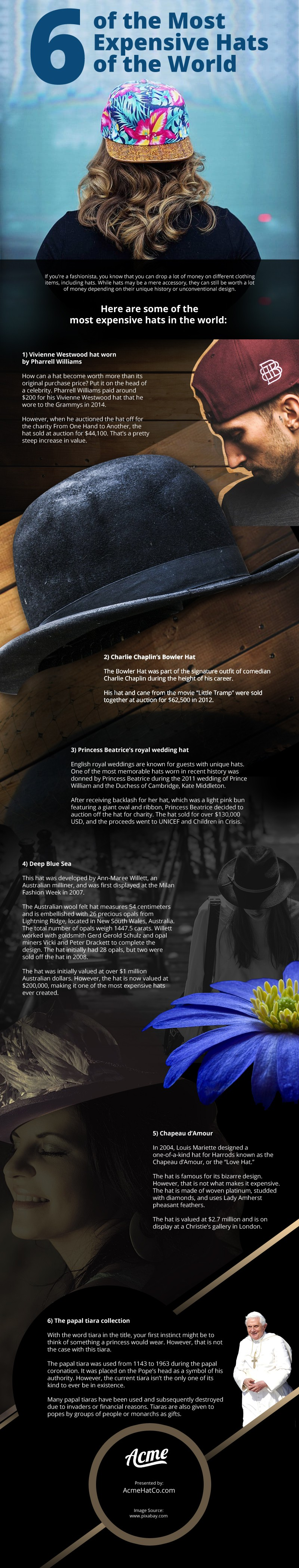 6 of the Most Expensive Hats of the World Infographic [infographic]