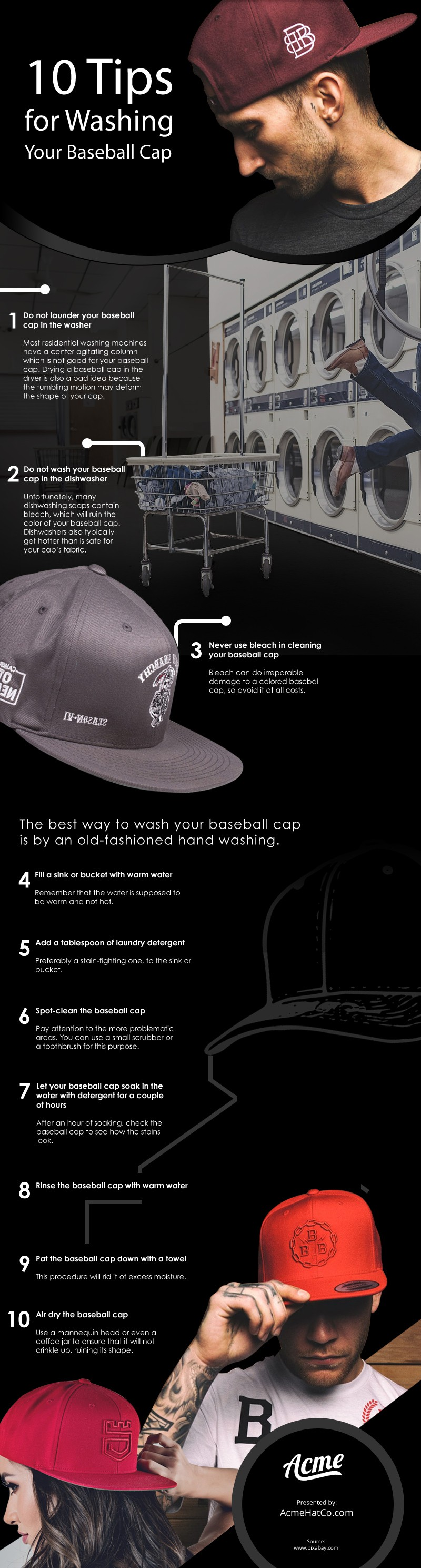 10 Tips for Washing Your Baseball Caps [infographic]