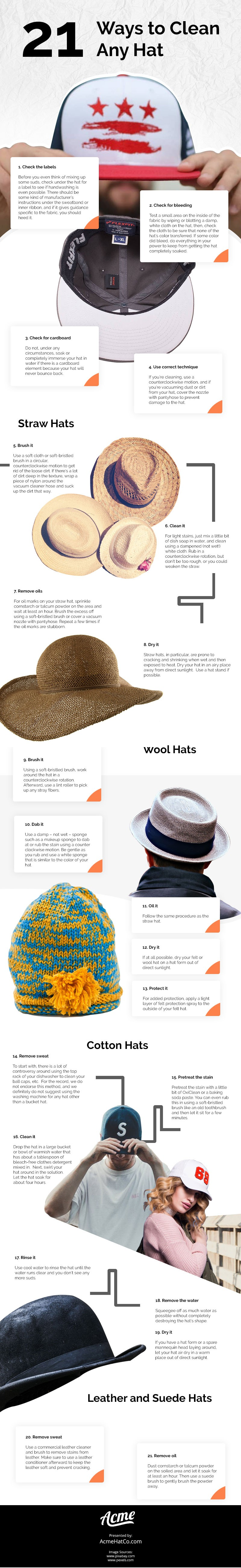 21 Ways to Clean Any Hat [infographic]